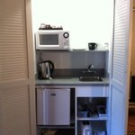 kitchenette in a cupboard