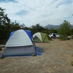 view of our two campsites