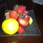 fruit plate in our room after dinner - nice touch!