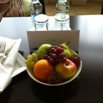 nice touch on arrival in room