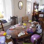 Tables set for afternoon tea
