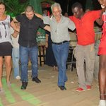 Greek dance with Italian hostess in Africa!