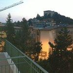 Vista dal balcone della stanza n. 207