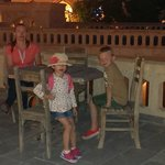 Family on the terrace