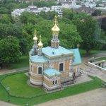Russian Chapel Darmstadt as seen from Hochzeitsturm