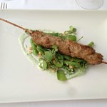 Lamb skewers - Indian style