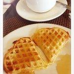 lovely waffle for breakfast buffet