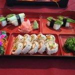 bent vegetarian sushi