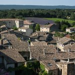 Grignan rooftops from the chateau