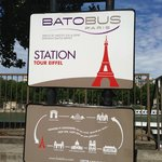 Batobus station near the hotel - you can take a cruise on the Seine!