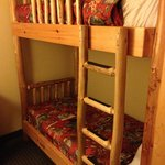 Bunks in the room