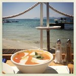 Gazpacho at the Provencal Beach