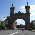 The arch built for Queen Victoria in 1864