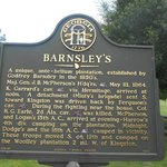 Historical sign about Barnsley