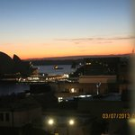 Sunrise, view from double room with view