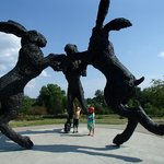 Giant Dancing Rabbits of Ballantrae Park