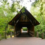 Covered bridge in the summer!