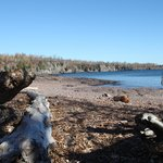 Gooseberry Falls rivers mouth pebble beach
