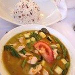 green Thai curry, divine!