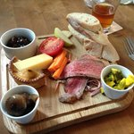 Rose & Crown Ploughman's Lunch. Very good.
