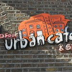 D Four Urban Cafe - view from the street.