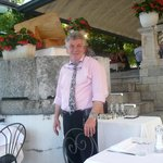 Perry the Maitre d'hotel in casual dress for lunch