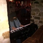 Keyboardist plays live jazzed classicals
