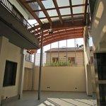 Interior breezeway/atrium between buildings