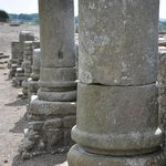 Roman pillars at Corbridge