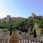 Vue de l'Alhambra de la terrasse