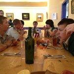 Boy Scouts Having Lunch