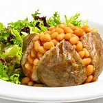 Delicious Jacket Potatoes with assortment of fillings