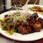 Puzzles Chicken Stir-Fry with White Jasmine Rice.