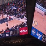 Huge scoreboard.