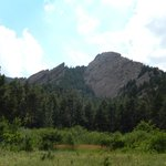 Flatiron view while on hiking trail