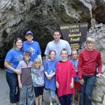 Our group at the mouth of Minnetonka Cave