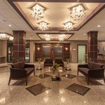 Experience the beautiful symmetry design of our lobby.