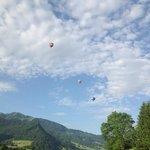 Les Montgolfières vue depuis la terrasse