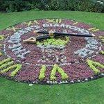 Flower covered clock