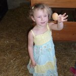 Our oldest loving being able to collect an egg!