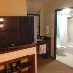 TV, sink area, bathroom -- 6th Floor