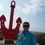That`s me near the anchor