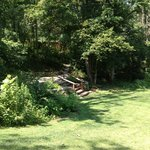 Partial view of grounds (steps lead to cabins)