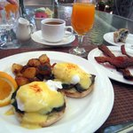 Portobella mushroom eggs benedict.  The bacon is to die for.
