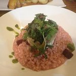 goats cheese and beetroot risotto