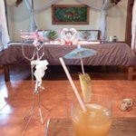 welcome cocktails in the honeymoon room