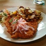 schnitzel with spunde cheese