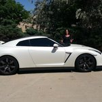 The Nissan GTR and me.
