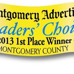 We've been named the Best B & B in Montgomery for the second year in a row!