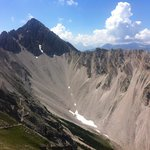 I managed to climb the high peak, Reither Spitze days later